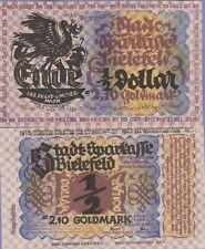 """""""German Inflationary Notgeld,""""Bielefeld""""2.10 Goldmark Banknote,1923,Uncirculated"""