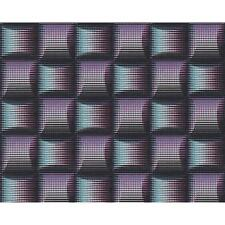 AS CREATION SQUARE PATTERN 3D STRIPE EFFECT NON WOVEN TEXTURED WALLPAPER 961804