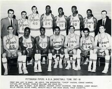 Aba 1967 - 68 Pittsburgh Pipers Black & White Team Pic 8 X 10 Photo Free Ship