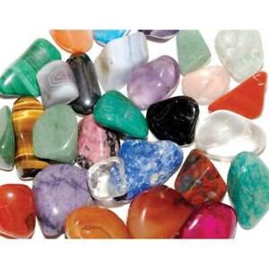 20 Mixed Best Mix Healing Crystals Tumble Stones 17-28m Chakra Gemstone 28p Each