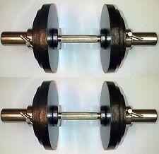 40KG Olympic Dumbbells 2 x 20kg Set, Cast Iron Weight Disc Plates, T-Screws