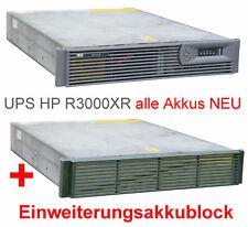 3kVa 3000VA HP R3000XR NEUE AKKUS SMART UPS USV FÜR RACK + ZUSATZ AKKUBLOCK #80
