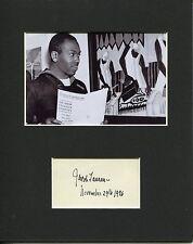 Jacob Lawrence Famous Harlem Black Artist Rare Signed Autograph Photo Display