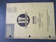 Oliver Super 99 990 995 Tractor Shop Manual