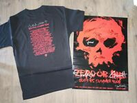 2003 zero or die summer tour skateboard poster & T-shirt  autographed SIGNED