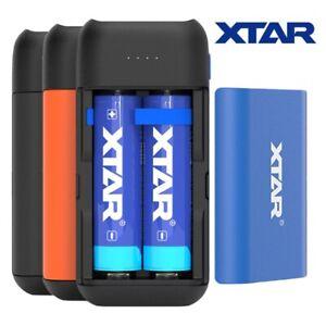 Xtar PB2C Ladegerät und Powerbank für 2 x 18650 oder 18700 Li-Ion Akkus