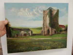 really old PAINTING oil on panel Sheffield abbey