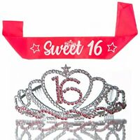 Sweet 16 Tiara and Sash 16th Birthday Party Accessories Supplies
