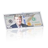 WR US $ 100 Dollar Bill Präsident Donald Trump Silber Neuheit Banknotensammlung
