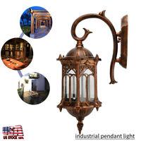 Retro Exterior Wall Light Fixture Shade Outdoor Lantern Sconce Porch Light Lamp