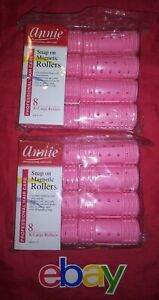 2 PACKS Annie #1221 Snap On Magnetic Rollers X-LARGE (16CT) Total Pink