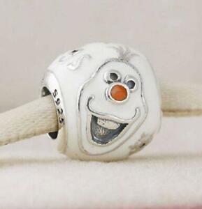 ❤️️ PANDORA ❤️️ SILVER BEAD CHARM Disney Frozen Olaf Snowman 791794enmx