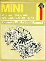 Mini & Cooper S Riley Elf Wolseley Hornet 1959-1975 Haynes workshop manual