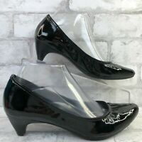 Me Too 7.5M Element Pump Black Patent Leather Pointed Toe Dress Work Womens