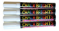 4  White Liquid Chalk Pens  Marker Glass Windows Reversible