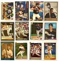(12) JEFF BAGWELL 1991 Bowman Rookie Flagship RC Card LOT Houston Astros HOF