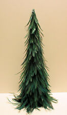 "Luxurious Deep Forest Green 20"" Christmas Feather Tree"