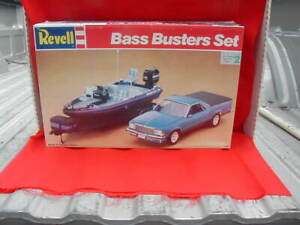 """Revell Bass Busters Set #7243 Chevy El Camino Bass Boat Trailer  """"Excellent"""""""