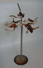 Hand made Sturdy Pale Gold coloured Jewellery Necklace Tree display stand