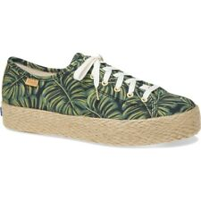 9eebeef5c2cc Keds X Women Rifle Paper Co Everyday Triple Kick SNEAKERS Green Palms 9