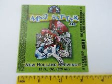 Brewery BEER LABEL~ NEW HOLLAND Brewing Co Mad Hatter Ale ~ Holland, MICHIGAN