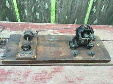 Antique AJAX Cast Iron Erector Steam Engine Motor & Pulleys e.1900's on Board