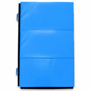 Moose Supply Folding Gym Mat Red Blue Reversible PVC Leather Landing Pad