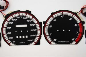 Mazda 626 GD glow gauges dials plasma dials kit tacho glow dash shift indicators