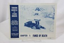 "Fangs of Death Original Movie Lobby Card 11"" x 14"" 1953 Canadian Mounties"