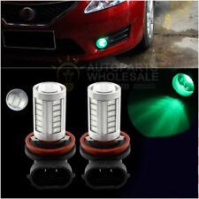 2 × Green High Power H11 H8 33SMD LED Lens Bulbs For Car Driving Fog Lights