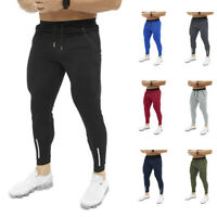 New Hot Mens Slim Fit Tracksuit Bottoms Skinny Joggers Sweat Pants Gym Trous GT