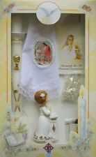 New Girls First Holy Communion Candle Box Gift 6 Pc Set English Missal Rosary F