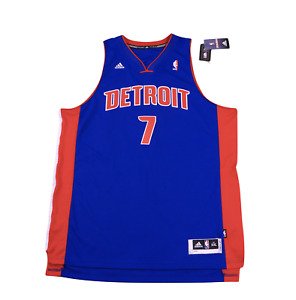 New Adidas 2XL Detroit Pistons Brandon Knight Autographed Swingman Jersey Blue
