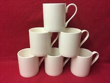 Mugs White bone China (Balmoral) Set 6