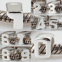 925 Sterling Silver Numbers 1,2,3,4,5,6,7,8,9,0 European Charm Bead S2218