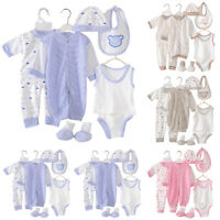8pcs Newborn Baby Boy Girl Infant T-shirt Tops Pants Outfits Set Clothes 0-3M