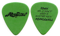 POISON Guitar Pick : 2007 Poison'd Tour John Popplewell stage manager green