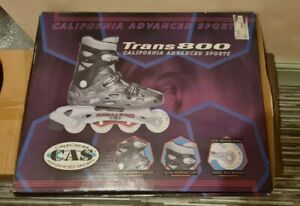 California Advanced Sports Trans800 Roller Blades Size 10 UK USED W/ BOX & PADS