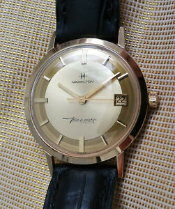 Vintage Hamilton Thin-o-matic automatic men's watch, gold filled, near mint