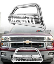 FOR 2007-2018 GMC SIERRA/YUKON XL 1500 CHROME BULL BAR BRUSH BUMPER GRILLE GUARD