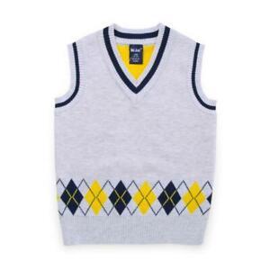 New Kids Boys Knitted Child Sweater Vest V Neck Sleeveless Pullover Winter 3-8Y