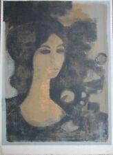 André MINAUX - Lithographie signée numérotée la jeune fille 1963 Sagot Le Garrec