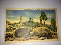 VTG UNPOSTED POSTCARD LINEN WHITE BORDER TWO SITES GETTYSBURG - PA - No. 15