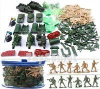 88 pcs Military Playset Plastic Toy Soldier Army Men 6cm Figures & Accessories