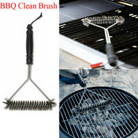 BBQ Brush Stainless Steel Durable Grill Cleaning Brush Wire Bristles Clean Tool