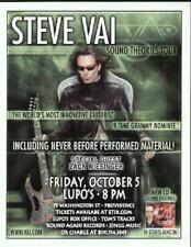 Steve Vai Concert Flyer Providence Lupos 2007