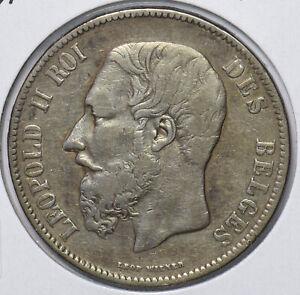Belgium 1871 5 Francs Lion animal 294643 combine shipping