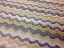 Kravet Yellow Grey Wavy Line Chenille Upholstery Fabric 4.0 yds (32541-411)
