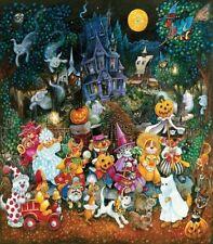 Jigsaw Puzzle Seasonal Halloween Trick or Treat Cats Dogs 300 piece NEW Made USA