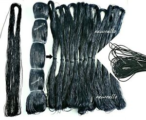 African Threading Black Rubber Thread For Stretching Out Natural Hair UK Seller